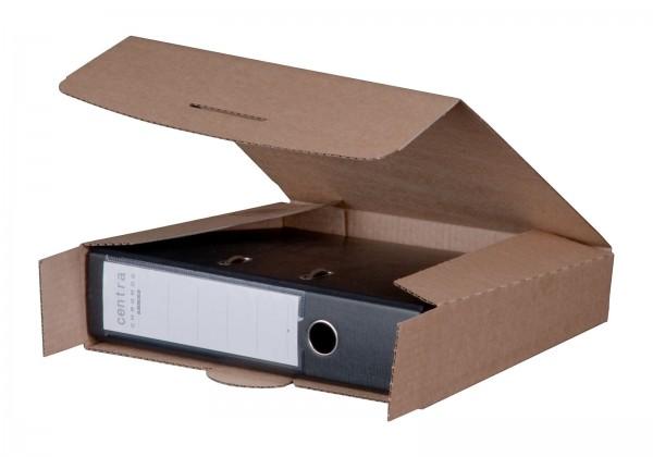 Ordnerversandkarton 320 x 288 x 80 mm mit Steckverschluss Braun