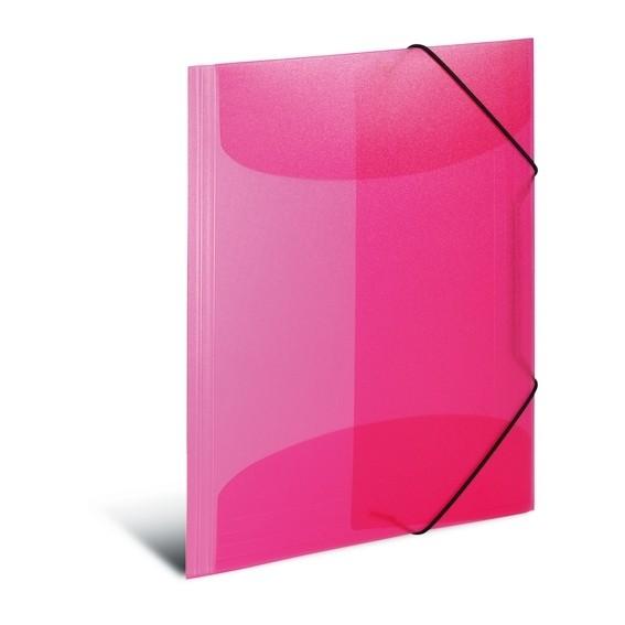 HERMA 19505 3x Sammelmappe A4 PP transluzent pink