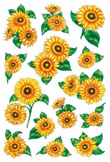 HERMA 3346 10x Sticker DECOR Sonnenblumen, beglimmert