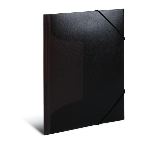 HERMA 19513 3x Sammelmappe A3 PP transluzent schwarz