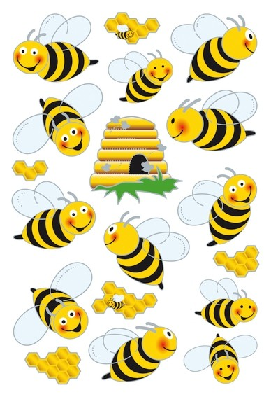 HERMA 3227 10x Sticker MAGIC Bienen, Flügelsticker