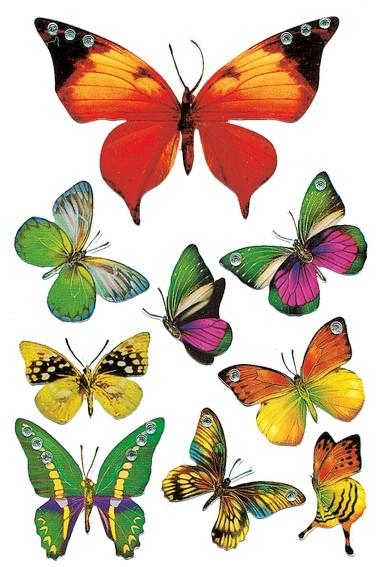 HERMA 6934 10x Sticker MAGIC Schmetterling, Jewel