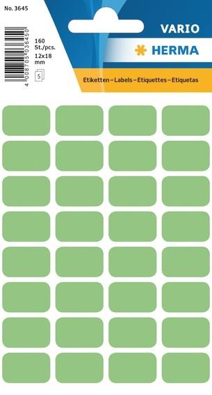 HERMA 3645 Vielzwecketiketten 12x18 mm grün Papier matt 1600 St.