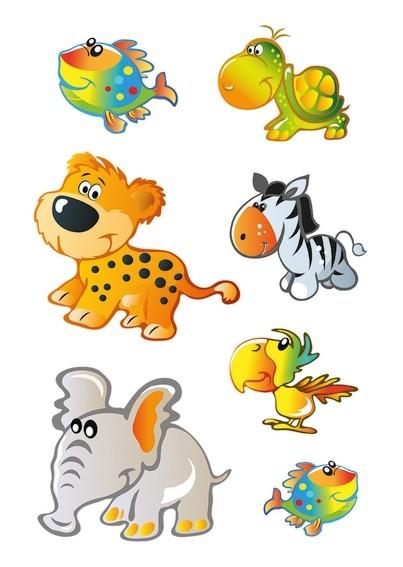 HERMA 15043 10x Sticker DECOR Tierkinder