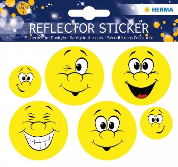 HERMA 19197 5x Reflektorsticker Happy Face