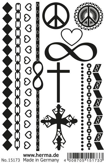 HERMA 15173 10x CLASSIC Tattoo Black Love