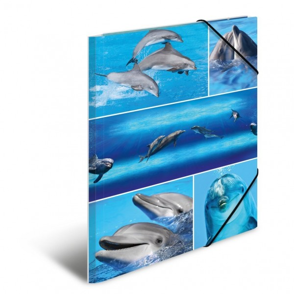 HERMA 19213 3x Sammelmappe A4 Karton Delfine