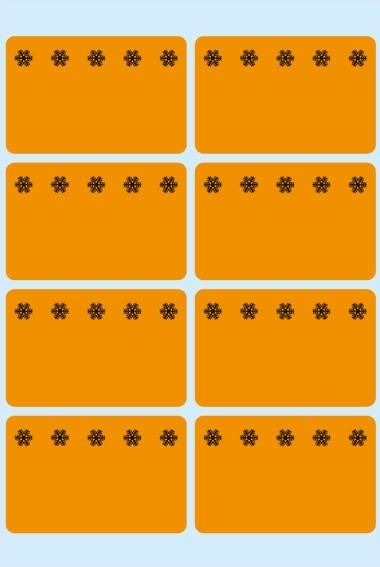 HERMA 3774 Tiefkühletiketten orange 26x40 mm Eiskristalle 480 St
