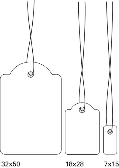 HERMA 6933 Hängeetiketten 18x28 mm mit Faden weiß 1000 St.