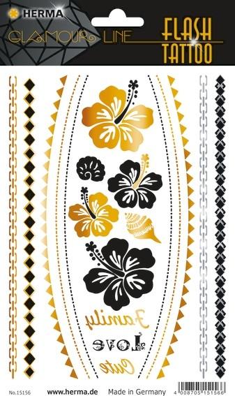 HERMA 15156 5x FLASH Tattoo Flower