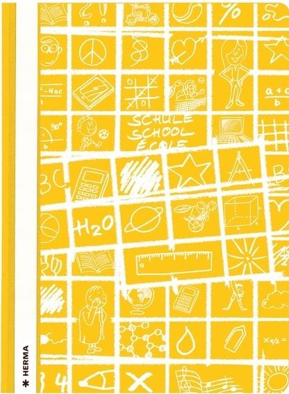 HERMA 19363 10x Schnellhefter A4 SCHOOLYDOO gelb