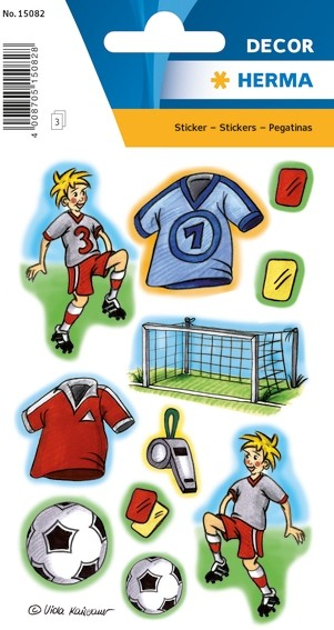HERMA 15082 10x Sticker DECOR Fussballspiel