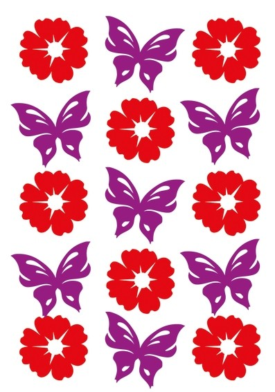 HERMA 6438 10x Sticker MAGIC Blumen & Schmetterlinge, Filz