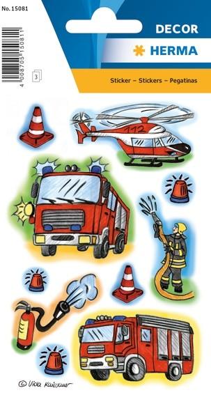 HERMA 15081 10x Sticker DECOR Feuerwehr