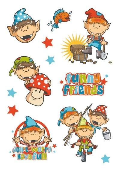 HERMA 3061 10x Sticker DECOR Funny Friends