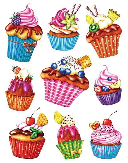 HERMA 15100 5x Fensterdecor Cupcakes