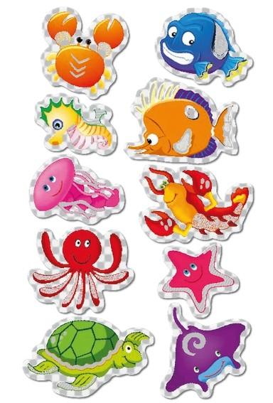 HERMA 3669 10x Sticker MAGIC Sea life, Prismaticfolie