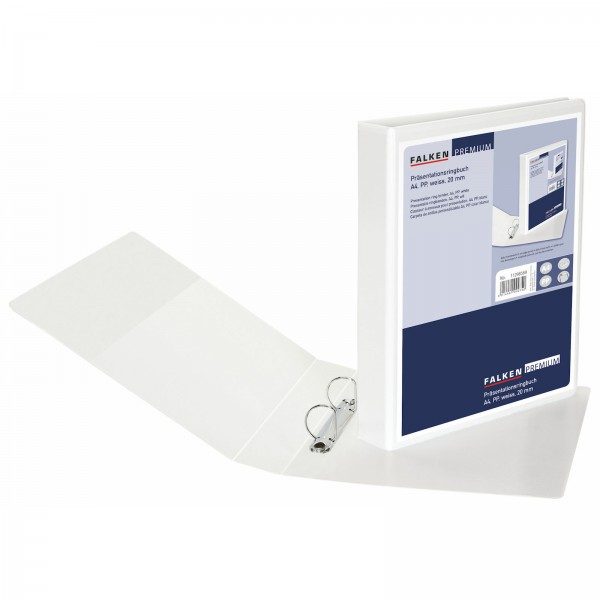 Präsentationsringbuch PP DIN A4 2 Ringe 20 mm Weiß