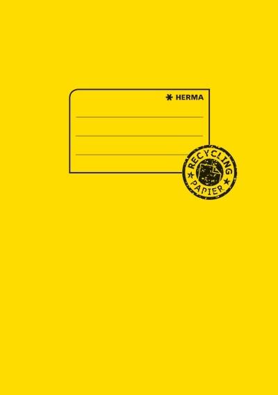 HERMA 5511 10x Heftschoner Papier A5 gelb