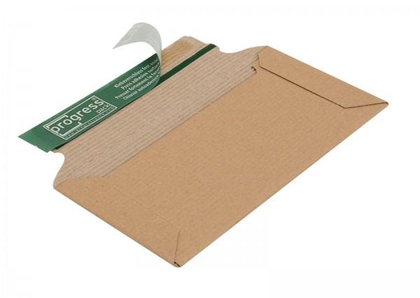 220 x 110 x 32 mm Versandtasche DIN lang aus offener Wellpappe