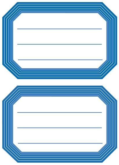 HERMA 5714 10x Schuletiketten neutral blauer Rand liniert 82x55