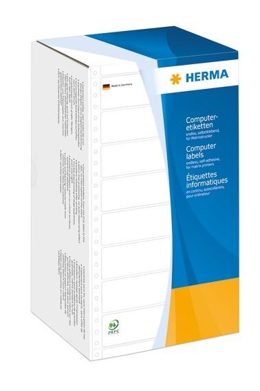 HERMA 8294 Computeretiketten 147,32x73,8 mm 1-bahnig weiß perfor