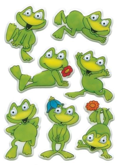 HERMA 6091 10x Sticker MAGIC lustige Frösche, Wackelaugen