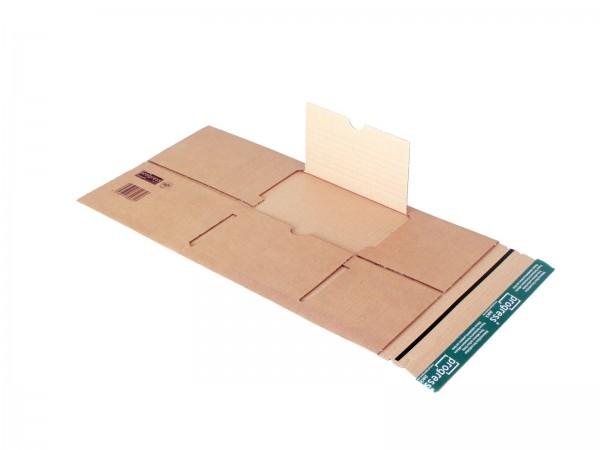 Buch-Versandverpackungen mit zentraler Packgutaufnahme DIN B5 25