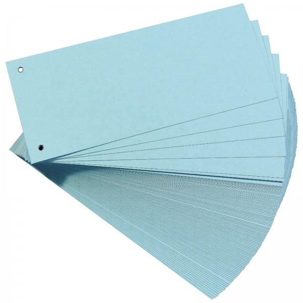 Trennstreifen aus Manilakarton 10,5 x 24 cm 160 g/m² Blau