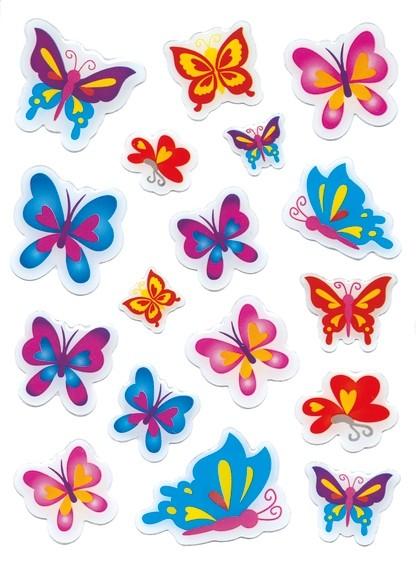 HERMA 6088 10x Sticker MAGIC Schmetterlinge, Stone