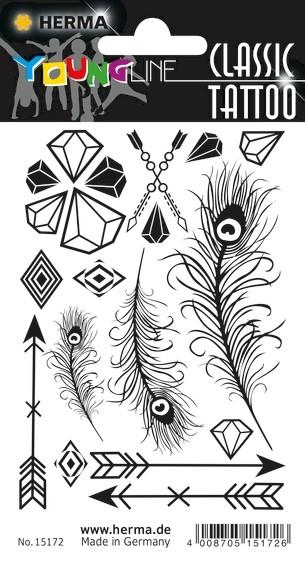 HERMA 15172 10x CLASSIC Tattoo Black Diamonds