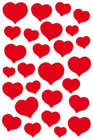 HERMA 3254 10x Sticker MAGIC rote Herzen, Stone