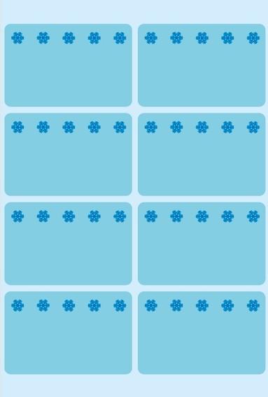 HERMA 3773 Tiefkühletiketten blau 26x40 mm Eiskristalle 480 St.