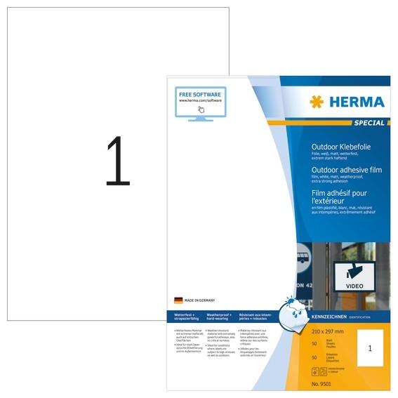 HERMA 9501 Etiketten A4 Outdoor Klebefolie 210x297 mm weiß extre