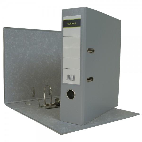 Ordner A4 8 cm PP Kunststoff Grau Aktenordner Briefordner
