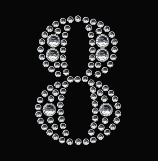 HERMA 15364 3x Crystal Sticker 8
