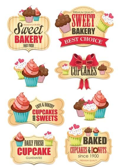 HERMA 3163 10x Sticker MAGIC Sweet Bakery, Glitterfolie