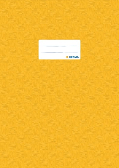 HERMA 7441 2500x Heftschoner PP A4 gedeckt/gelb