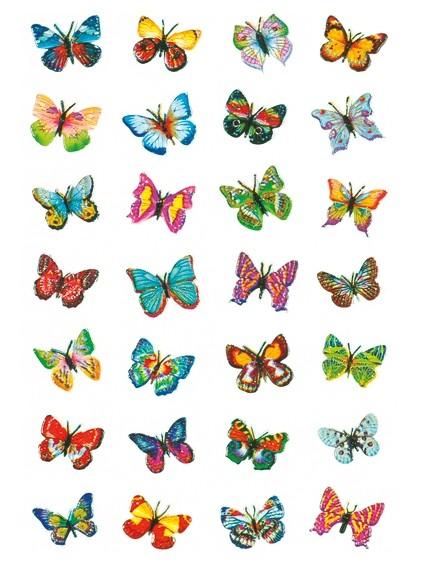 HERMA 6819 10x Sticker MAGIC Schmetterlinge, Glitterfolie