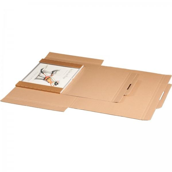 Kartonversandtasche für Kalender 1180 x 780 x 30 mm mit Aufreißfaden & Steckverschluss