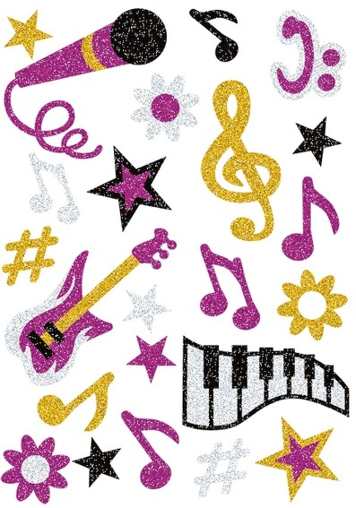 HERMA 3276 10x Sticker MAGIC Musik, glittery