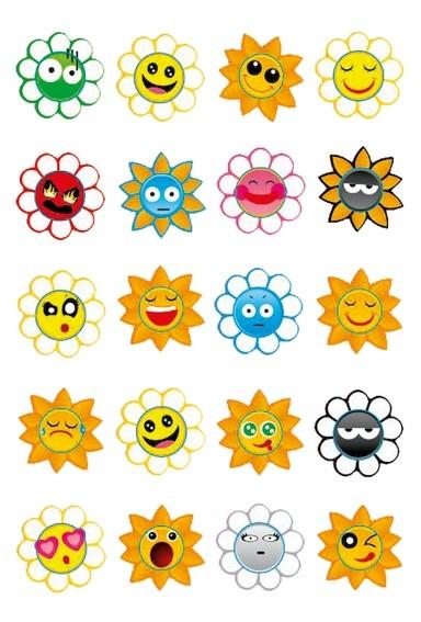 HERMA 3668 10x Sticker MAGIC Crazy Suns, Puffy