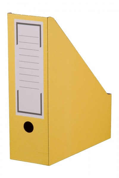 Archiv-Stehsammler mit Beschriftungsfeld 100 mm Rückenbreite DIN A4 Gelb