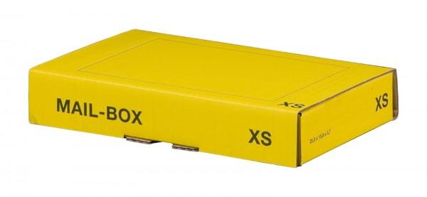 Versandkarton 244 x 145 x 43 mm mit Steckverschluss in Gelb