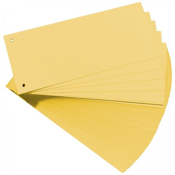 Trennstreifen aus Manilakarton 10,5 x 24 cm 160 g/m² Gelb