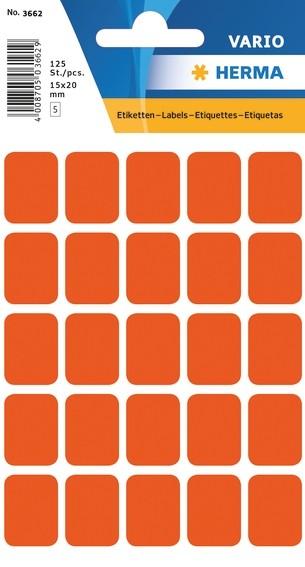 HERMA 3662 Vielzwecketiketten 15x20 mm rot Papier matt 1250 St.