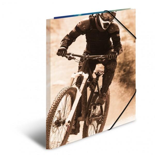 HERMA 19228 3x Sammelmappe A4 Karton Mountainbike