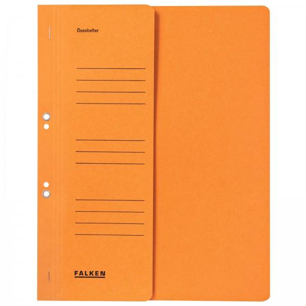 Ösenhefter DIN A4 1/2 Vorderdeckel kaufmännische Heftung Orange