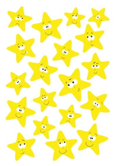 HERMA 3714 10x Sticker MAGIC Sterne, Neon-Gelb