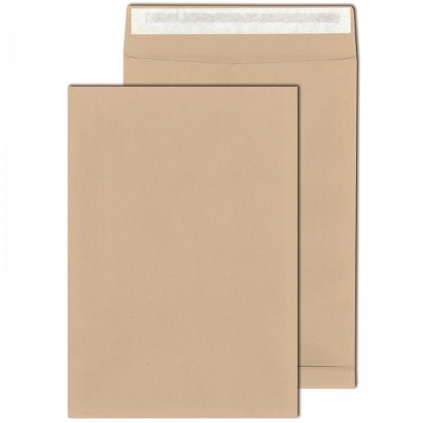 Faltentaschen DIN B4 130 g/m² Haftklebend mit 4cm Falte